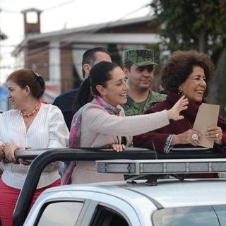 Sheinbaum recorrió Tlalpan y Xochimilco en unidad militar