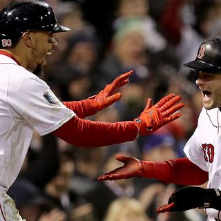 ChampionRed Sox Flipping Mookie Betts, Andrew Benintendi In Lineup