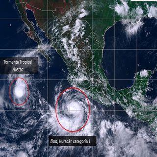 Bud huracán categoría 1