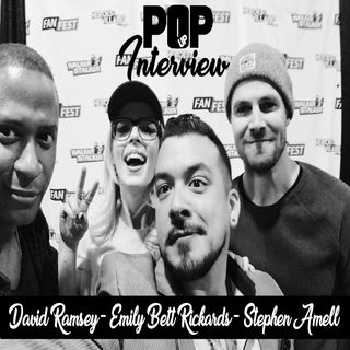 #PopUp Interview with Stephen Amell - David Ramsey - Emily Bett Rickards