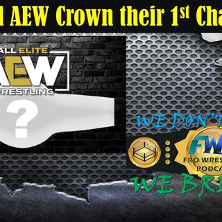 Crowning the First AEW Champion