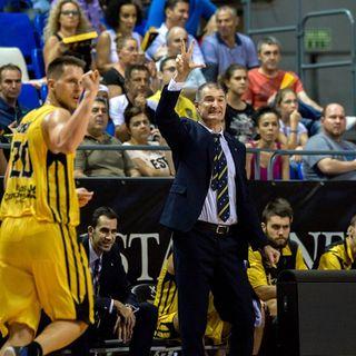 BCL. Rueda de prensa. Nenad Markovic. Canarias-Capo D'Orlando.