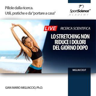 Lo Stretching previene i DOMS, i dolori muscolari del giorno dopo?