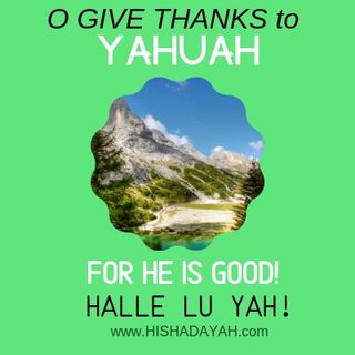 [O GIVE THANKS TO YAHUAH | FOR HE IS GOOD! HALLE LE YAH!] -)