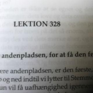 Lektion 328. Et kursus i mirakler.
