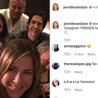 La foto di Jennifer Aniston e chiacchiere su Friends - Prontcast
