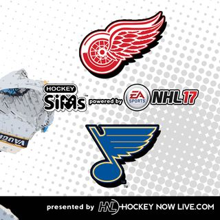 Red Wings vs Blues (NHL 17 Hockey Sims)