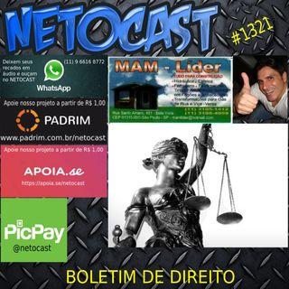 NETOCAST 1321 DE 10/07/2020 - BOLETIM DE DIREITO