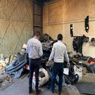 Hallan autopartes y vehículos robados en Ecatepec