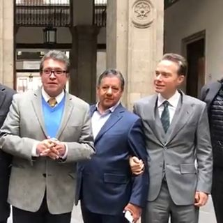 Senadores se reúnen con el presidente López Obrador