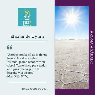 10 de julio - El salar de Uyuni - Devocional de Jóvenes - Etiquetas Para Reflexionar