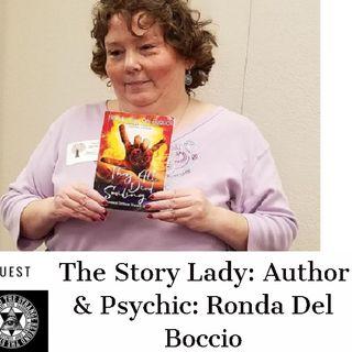 'THE STORY LADY' AUTHOR & PSYCHIC MEDIUM:RONDA DEL BOCCIO SUN 3/3
