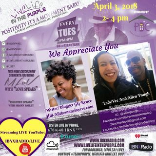 Live Life In The Purple with MLuV - Guests Shameka Love, GG Renee Hill,  LadyVee daPoet, Allen Pough