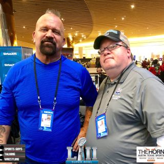 SGTW Tribute Road Warrior Animal and Stew Super Bowl LII Radio Row