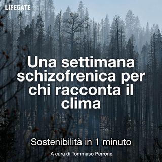 Una settimana schizofrenica per chi racconta il clima