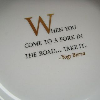 The fork in the Road  & Change