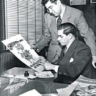 Creator Cast-Jerry Siegel and Joe Shuster