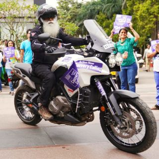 Why is Sadhguru Riding a Motorcycle for Cauvery Calling?