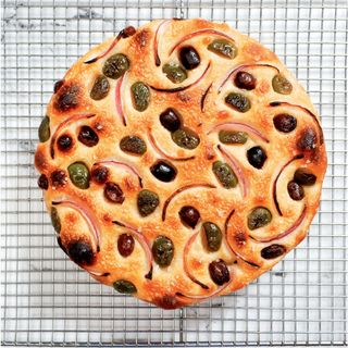 Play Me a Recipe: Anthony Falco makes Onion & Olive Bread