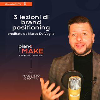 S2EP04 - 3 lezioni di brand positioning ereditate da Marco De Veglia