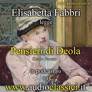 Cesare Pavese - Pensieri di Deola