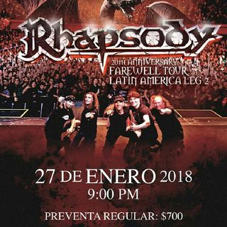 RHAPSODY EN MEXICO/ SLAUGTHER MASS INVITADOS/NECROMASS EN MTY 28 de abril / FREDY METAL SHOW #66 comparte