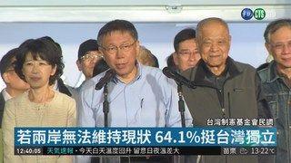 13:10 若兩岸無法維持現狀 民調6成挺台獨 ( 2019-01-18 )