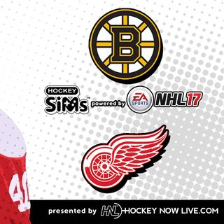 Bruins vs Red Wings (NHL 17 Hockey Sims)