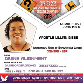 How to Overcome Obstacles | Apostle Lillian Gibbs |42-Day Divine Alignment