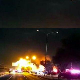 Explota coche en Guanajuato