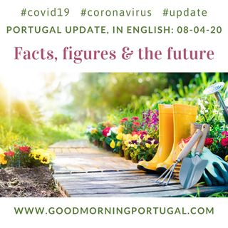 Covid19 Coronavirus Update 08-04-20 (For Portugal, in English)