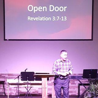 """Pastor Joe and his sermon """"Open Door"""""""