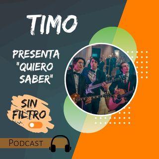 """Timo presenta """"Quiero Saber"""" en Hablando Sin Filtro."""