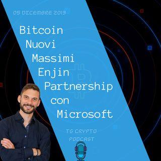 Bitcoin Nuovi Massimi | Enjin Partnership con Microsoft | Tg Crypto Podcast