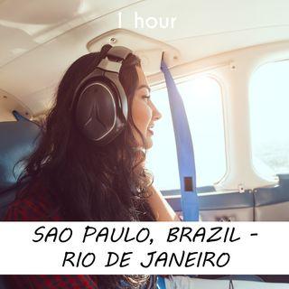Sao Paulo - Rio de Janeiro | 1 hour AIRPLANE Sound Podcast | White Noise | ASMR sounds for deep Sleep | Relax | Meditation | Colicky