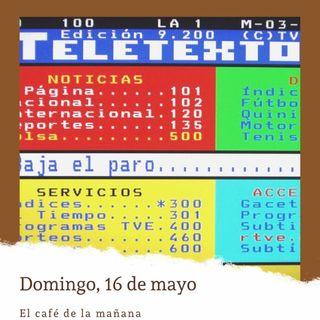 Domingo, 16 de mayo. 1986, nace el teletexto de TVE