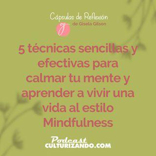 E4 • 5 técnicas sencillas y efectivas para calmar tu mente y aprender a vivir una vida al estilo Mindfulness • Cápsulas de Reflexión • Cultu