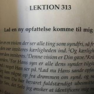 Lektion 313. Et kursus i mirakler.
