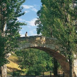 El Río Duero en Aranda (Burgos).
