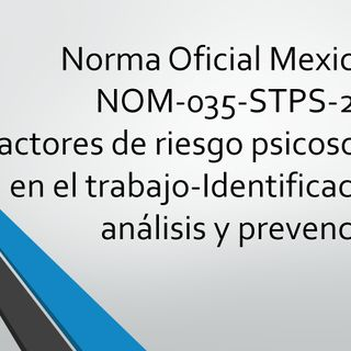 NOM-035-STPS-2018 - Disposición 5.1