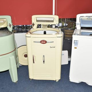 Ollie and Yvonne talk to Mary Foley of Ardkeen Library about Gadgets of Yesteryear.