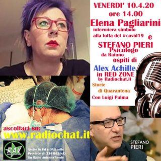 Elena Pagliarini (infermiera simbolo al covid19) e Stefano Pieri (Psicologo) ospiti ai microfoni di Alex Achille in RED ZONE by Radiochat.it