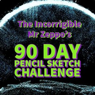 90 Day pencil sketch-a-thon challenge
