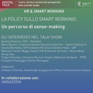 Digital Talk | La policy sullo smart working un percorso di sense-making | Variazioni