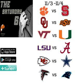 11/4 - 11/5 Saturday Six