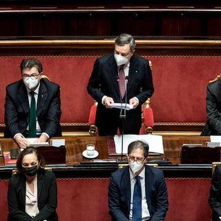Governo, Draghi ottiene la fiducia al Senato