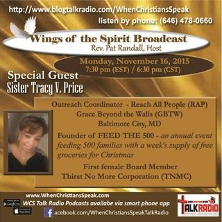 Wings of the Spirit with Special Guest, Sister Tracy V. Price