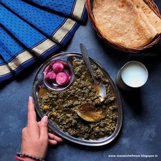 Palak Channa/ Indian Style Spinach and Bean Curry