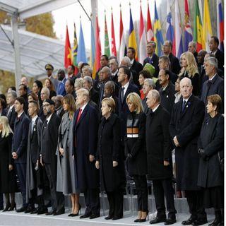 Conmemoran en París, el centenario del armisticio