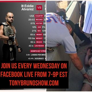 #BrunoNation LIVE 10/12 - Hr2 - MMA Champ Eddie Alvarez Interview w/ Epic FBomb